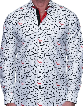 Bat Print Dress Shirt