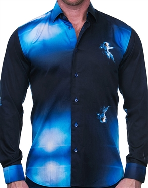 Black and Blue Fashion Shirt