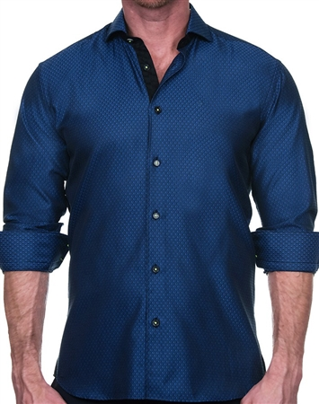Silky Blue Dress Shirt