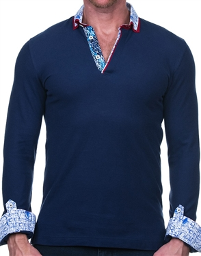 Fashionable Mens Polo in Blue