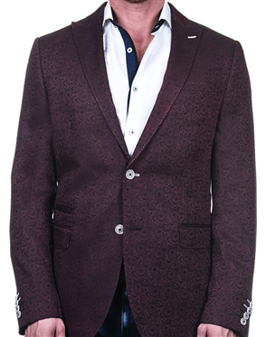 Fashionable Red Paisley Blazer