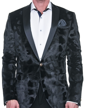 Luxury Velvety Black Blazer