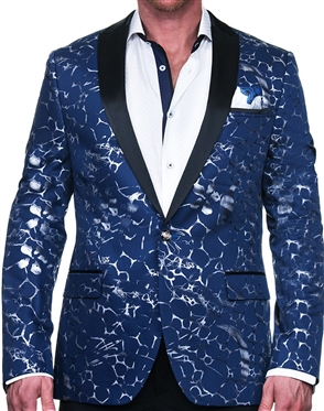 Spectacular Blue and Silver Blazer