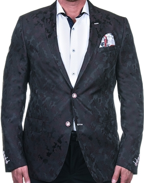 Stylish Black Red Camo Sport Coat
