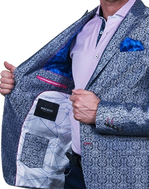 Luxury Silvered Blue Jacket