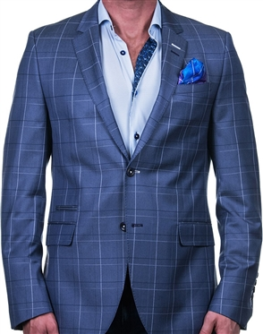 Grey Check Luxury Sport Coat