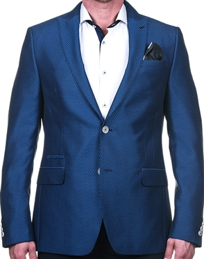 Blue Diamond Jacquard Stripe Blazer
