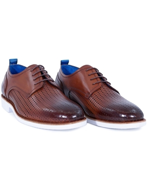 brown Designer Fashion Dress Shoes | Classic Perforated Dress Shoes