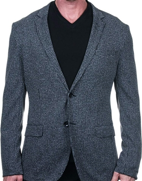 Grey and Black Check Sport Coat