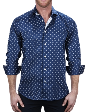 Luxury Bee Print Dress Shirt