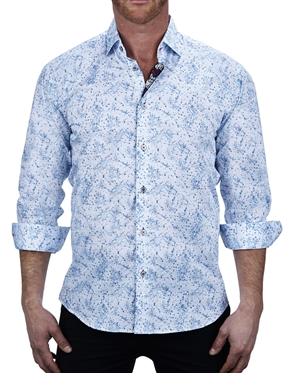 Designer Water Print Dress Shirt