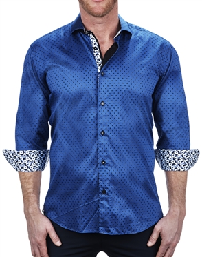 Handsome Polka Dot Print Dress Shirt