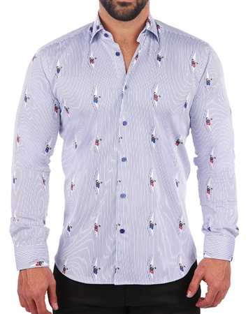 Designer Stripe print Dress Shirt