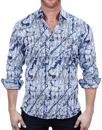Trendy Splash Art Print Dress Shirt