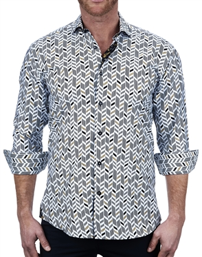 Fashionable Arrow Print Dress Shirt