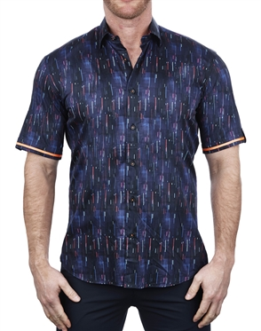 Multi-color Short Sleeve Dress Shirt