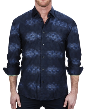 Designer Skull Print Dress Shirt