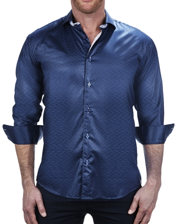 Classic Hexagon Print Dress Shirt