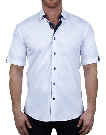 Elegant Short Sleeve Dress Shirt