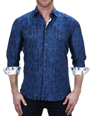 Exotic Plasma Print Dress Shirt