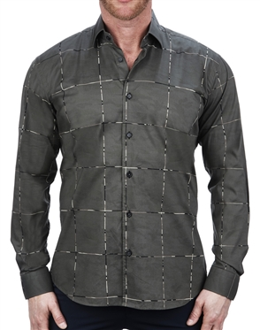 Handsome Army Print Dress Shirt