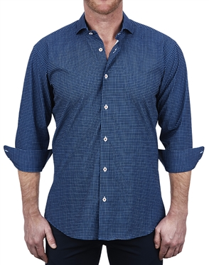 Blue Miro Check Dress Shirt