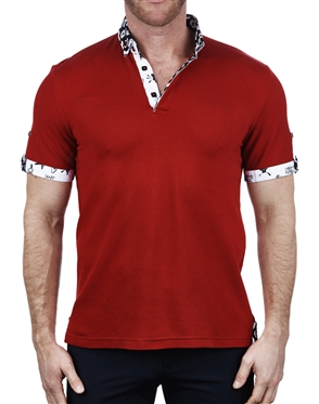 Stylish Solid Red Polo