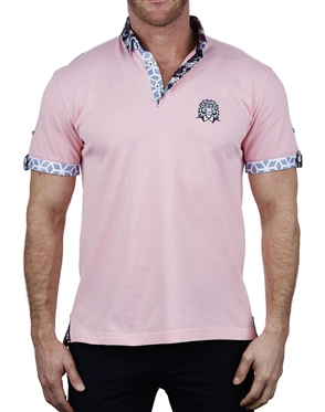 Stylish Solid Pink Polo