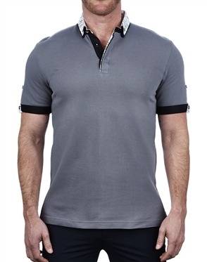 Fashionable Gray Polo