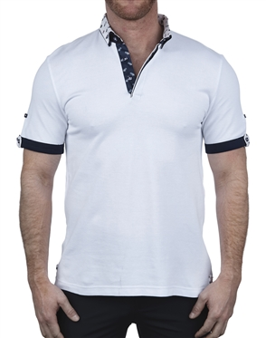 Fashionable White Polo