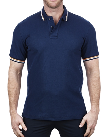 Navy Modern-Retro Polo