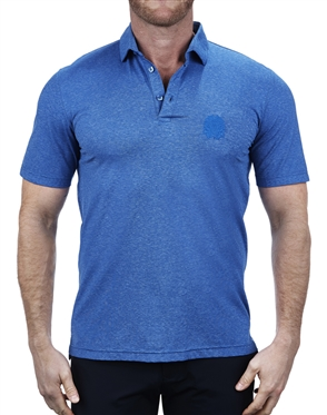 Stretchy Navy-Blue Polo