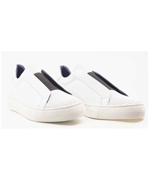 Fashion Shoes: White Desinger Shoes- Maceoo White Casual Shoe