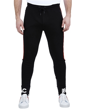 Maceoo Athleisure Collection | Jogger Stripe Black