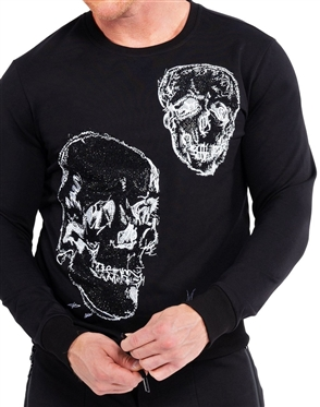 Modern Design Black Light Sweater