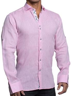 Maceoo einstein linen pink Dress Shirt