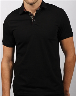 Casual Black Polo