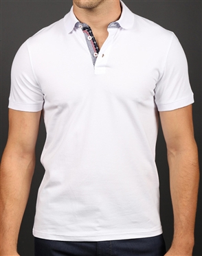 Luxury Slim Fit Polo - White Polo Shirt