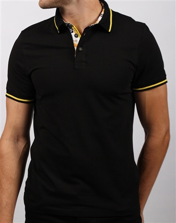 Shop Men's Casual Sport Polo - Modern Black Polo