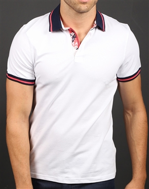 Shop Men's Fashion Polo - Modern White Polo