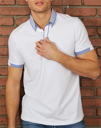 Shop Men's Casual Sport Polo - Modern White Polo