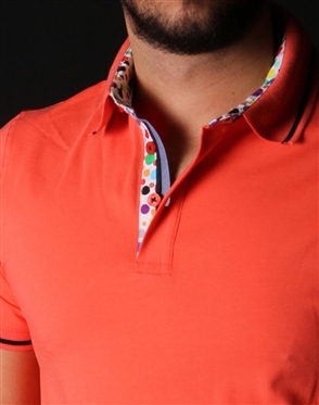 Designer Orange Polo Shirt