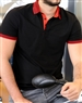 Men's Luxury Sport Polo - Black Short Sleeve Polo