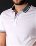 Men's Luxury Sport Polo - White Short Sleeve Polo