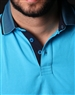 Men's Luxury Sport Polo - Turquoise Short Sleeve Polo
