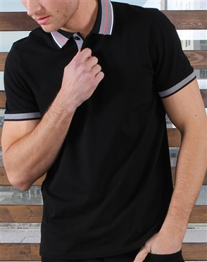 Shop Men's Luxury Polo - Sporty Black Polo