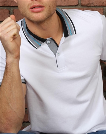 Shop Men's Luxury Polo - Sporty White Polo