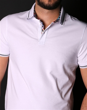 White Casual Sport Polo