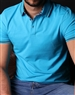 Turquoise Casual Sport Polo