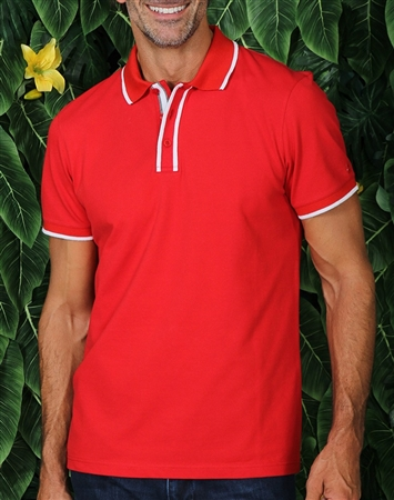 Sporty Red Polo